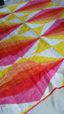 IKEA KING SIZE BED COVER BEDSPREAD 110'' X 102''RED/ORANGE/ YELLOW