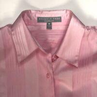 Foxcroft Wrinkle Free Womens Size 4 Long Sleeve Pink Blouse