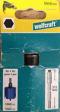 wolfcraft Spanndorn Sechskant 5/8 Zoll 372 mm Verlängerung f. Bohrkronen 5959000