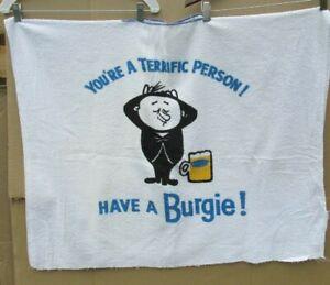 BURGIE BEER TERRY CLOTH TOWEL BAR-B-Q BIB PONCHO