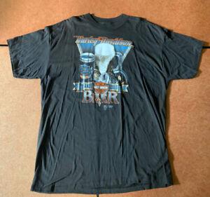 Vintage 1988 Harley Davidson 3D Emblem Graphic T Shirt XL COLD BEER USA Hawaii!