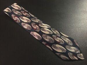 "euc Robert Talbott men's Silk Tie Necktie Blue Geometric Swirl 56"" 4"""