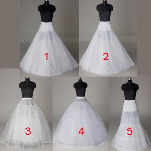 Brautkleid Weiß Unterrock Hochzeitskleid Krinoline lang Rock Unterkleid Reifrock