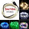 USB Connector LED String Fairy Lights 5/10M 100 LEDs Copper Wire Party Decor w7