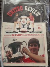 manchester united v west ham 1985-6 fa cup replay programme