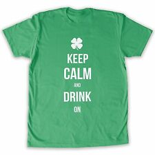 Death By Novelty St. Patrick's Keep Calm and Drink On Men's - Fashion T-Shirt
