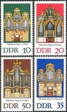 Germany 1976 G Silbermann/Organs/Music/Musical Instruments 4v set (n44461)