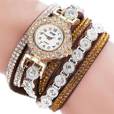 New Fashion Women's Stainless Steel Bling Rhinestone Bracelet Wrist Watch Gift