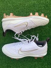New listing Nike Women's Lunarlon Hyperdiamond Softball Cleats White Gold 856493-109 7.5