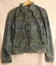 Diesel Vintage-like Denim Snap Jean Jacket with back image Medium #2622