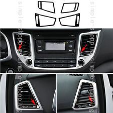 4pcs Stainless Inner Air Outlet Vent Frame Cover Trim For Hyundai Tucson 16-2017