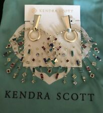 New Kendra Scott Fabia  Earrings in Gemstone Mix $250.00