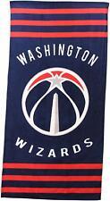 "Washington Wizards Licensed Striped Beach Towel - NBA ""Zone Read"" 30 X 60 in"