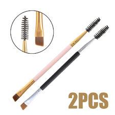 2PCS Eye Brow Brush Eyebrow Spoolie Double End Angled Eyebrow Comb Makeup Tool