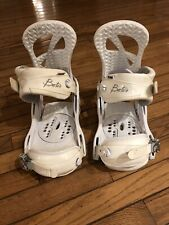 WOW Burton Scribe Womens Snowboard Bindings Sz Large 8+ Excellent Condition