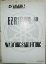 * Yamaha FZR1000 FZR 1000 1989 Werkstatthandbuch Wartungsanleitung