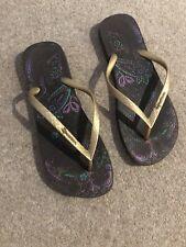 Ipanema Bronze Flip Flops Beach Shoes 41/42 Size 7 Rrp £35 ****^^