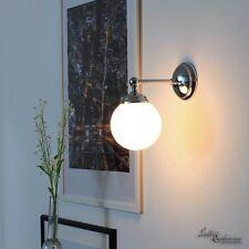Applique murale luminaire verre blanc rond echt-messing chromé brillant
