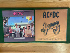 Lot of 2 AC/DC Records Dirty Deeds Done Dirt Cheap - For Those About To Rock VG+