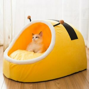 Warm Pet Slipper Cat Bed House Bed Foldable Cat Sleeping Mat Pad Nest Kennel Pet