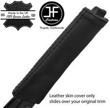 BLACK STITCH TOP GRAIN LEATHER HANDBRAKE HANDLE COVER FOR MERCEDES SLK R170