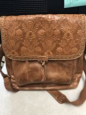 The Sak Ventura Backpack - Tobacco Floral Emboss Backpack Handbag  Used 1 Time