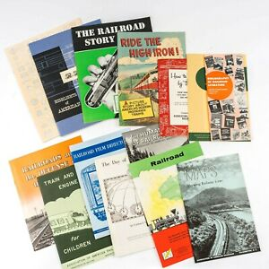 14 Vintage 1953 - 1955 Association of American Railroads Washington DC Brochures