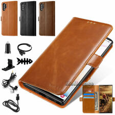 For Samsung Galaxy Note 10+ Note10 Leather Magnetic Flip Wallet Phone Case Cover