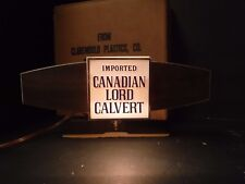 Vintage Lord Calvert Woodgrain Cash Register Light Up Sign Canadian Whiskey Bar