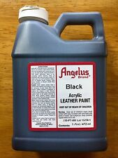 Angelus Black Acrylic Leather Paint 16 oz/1 Pint