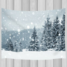 Snowy fir forest pattern Tapestry Wall Hanging for Living Room Bedroom Decor