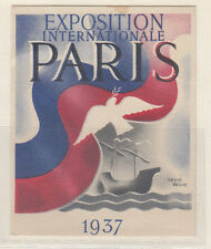 FOGLIETTO EXPOSITION INTERNATIONALE PARIS 1937 ERINNOPHILIE FRANCE