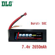 Genuine DLG RC Battery 7.4V 2S 25C 2650mAh Burst 50C Li-Po LiPo Dean's T plug