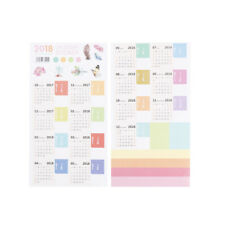 2Sheets 2018 Monthly Calendar Index Tabs Stickers/Lable Marker Page Dividers sT