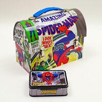 Marvel 2007 The Amazing Spider-Man vs Doc Octopus MINI Tin Lunchbox + Card tin