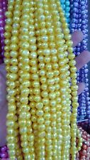 5-6mm yellow  Baroque South Sea Pearl Loose Beads Gemstones 13 ""