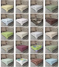 Ambesonne Elephant Flat Sheet Top Sheet Decorative Bedding 6 Sizes