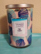 Yankee Candle Pink Sands 22 Oz Large Jar Candle Double Wick Seashell Jar NEW