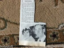 k1-3 ephemera 1966 wedding picture john dryland shirley townsend broadstairs