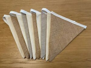 Handmade Linen/Cotton/Hesian Bunting - Wedding, Birthday, Graduation or Garden