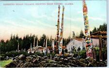 ALASKA, AK    Deserted Indian Village  TRIBE TOTEMS  ca 1910s    Postcard