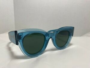 CELINE Zoe CL41447/S Transparent Teal (Blue/Green) Sunglasses