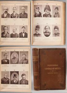 Large 1st Ed. Antique 1886 Professional Criminals of America Illustrated Book NR
