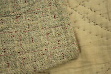 Antique French quilt 1810 timeworn small scale geometric rare pattern pink gray