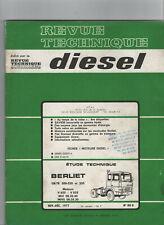 REVUE TECHNIQUE Diesel BERLIET GR TR 300 320 350 RTD camion