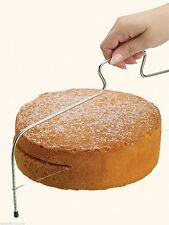 Kitchen Craft Rebanador de capa Ajustable Pastel de Esponja Grande, alambre de nivelación de corte