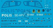 Peddinghaus 1/87 (HO) EC135 P2 Helicopter Markings SE-HPV Swedish Police 2579