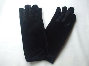 Ladies Soft Velvet Winter Gloves Black New