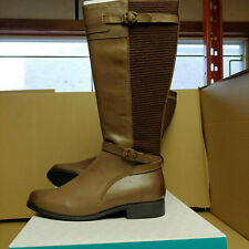 """Aetrex """"Chelsea brown tall lea riding boot"""" Women's size 8 EB91WD08"""