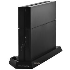 Sony PS4 Playstation 4 Vertical Stand Dock Mount with Fan & Controller Charger